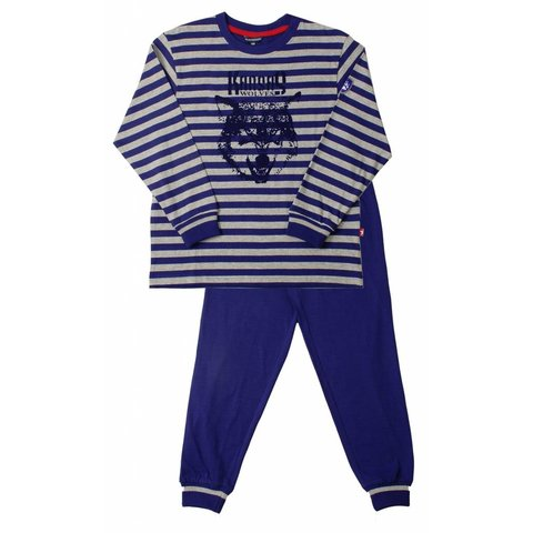 Blue Docks Jongens Pyjama Blauw
