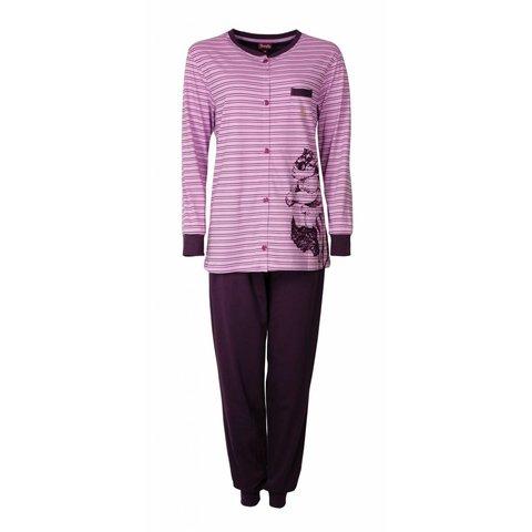 Medaillon Dames Pyjama doorknoop ziekenhuis  Paars/Roze