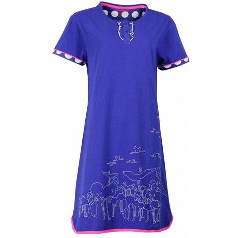 Irresistible Dames Nachthemd Blauw IRNGD1507A