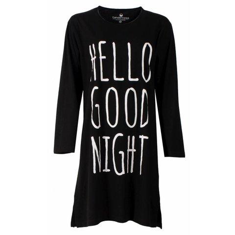 Tenderness Dames Nachthemd Zwart