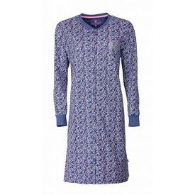Tenderness Tenderness Dames Nachthemd doorknoop ziekenhuis Blauw