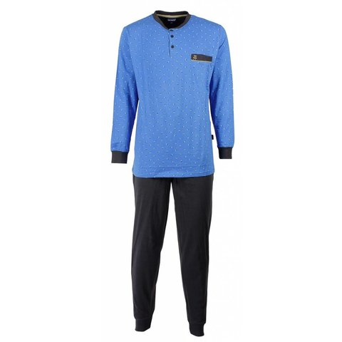 Paul Hopkins Heren Pyjama Licht Blauw