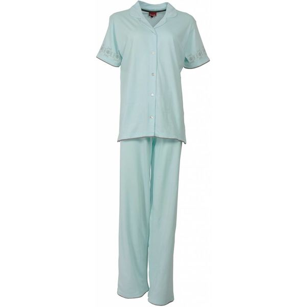 Medaillon Medaillon Dames Pyjama Licht Blauw