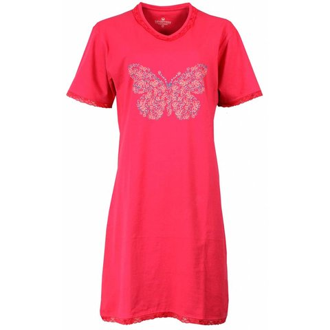 Tenderness Dames Nachthemd Roze Vlinder