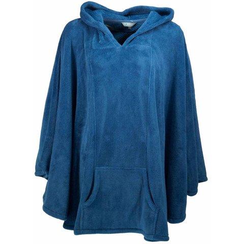Irresistible dames poncho capuchon - Blauw