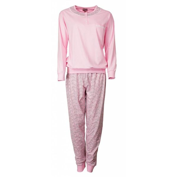 Medaillon Medaillon Dames Pyjama Roze gestipt met polo sluiting