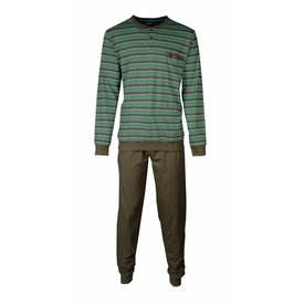 Paul Hopkins Paul Hopkins Heren Pyjama Streep Bruin - Groen