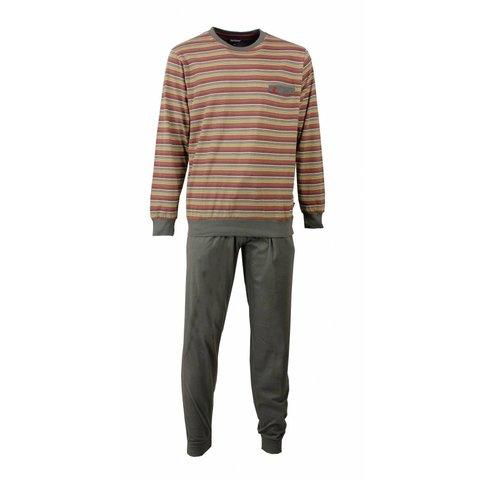 Paul Hopkins Heren Pyjama Streep Grijs - Rood