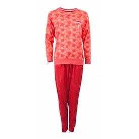 Tenderness Tenderness Dames Pyjama Rood met detail bloem