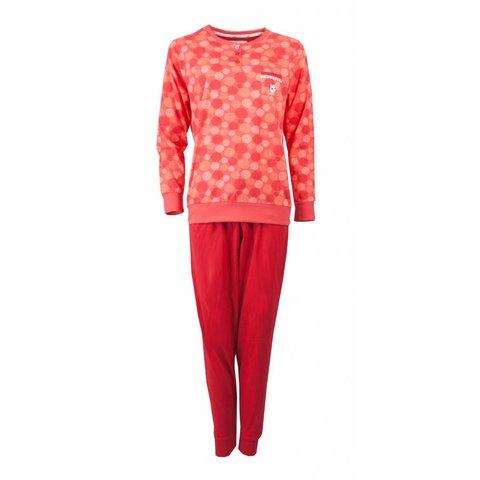 Tenderness Dames Pyjama Rood met detail bloem