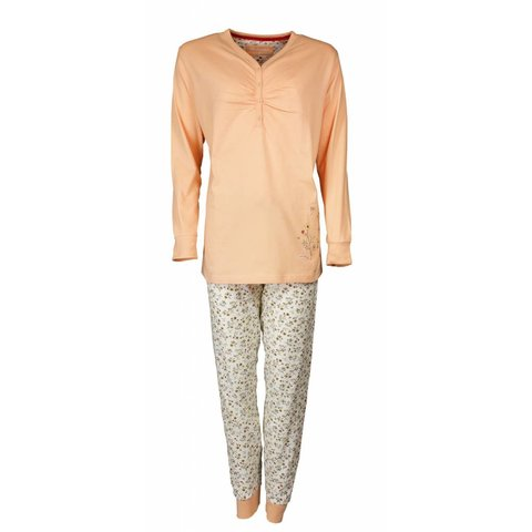 Tenderness Dames Pyjama Oranje met bloemenprint