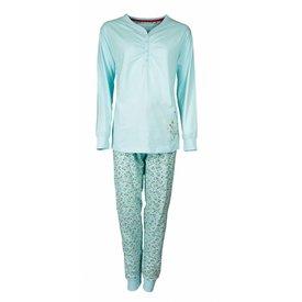 Tenderness Tenderness Dames Pyjama Blauw met bloemenprint