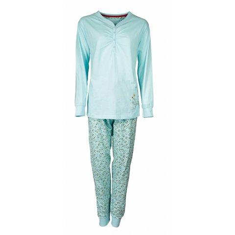 Tenderness Dames Pyjama Blauw met bloemenprint