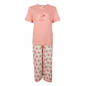 Tenderness Tenderness Dames Pyjama Roze met driekwart broek