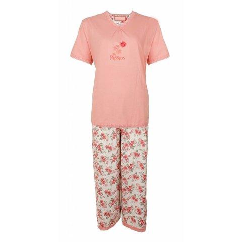 Tenderness Dames Pyjama Roze met driekwart broek