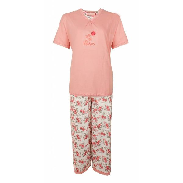 Tenderness Tenderness Dames Pyjama Roze met driekwart broek