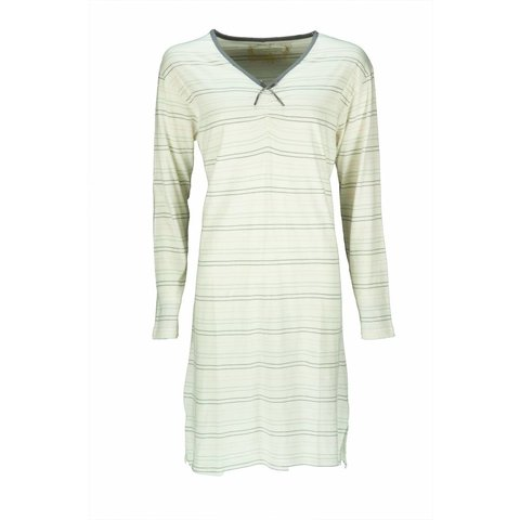 Tenderness Dames Nachthemd  gebroken Wit Streep