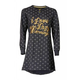 Irresistible Irresistible Dames Nachthemd Grijs met Goudkleurige  print