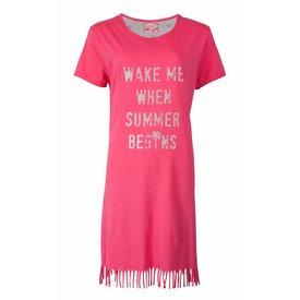 Irresistible Irresistible Dames Nachthemd Roze met Franjes