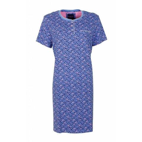 Tenderness Dames Nachthemd gebloemd Blauw.