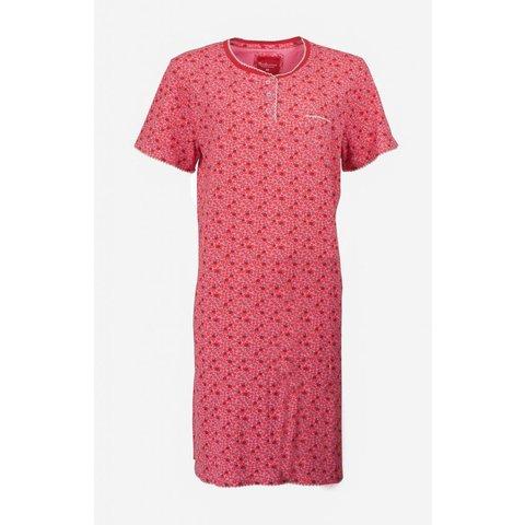 Tenderness Dames Nachthemd gebloemd rood