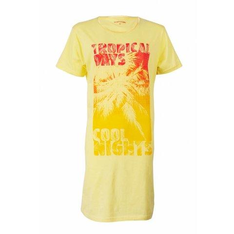 Temptation Dames Nachthemd Geel met Print