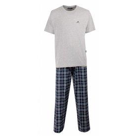 Paul Hopkins Paul Hopkins Heren Pyjama Grijs met Blauw Geruite Broek. PHPYH1208A