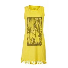 Irresistible Irresistible Dames Nachthemd Geel met Franjes IRNGD1610B