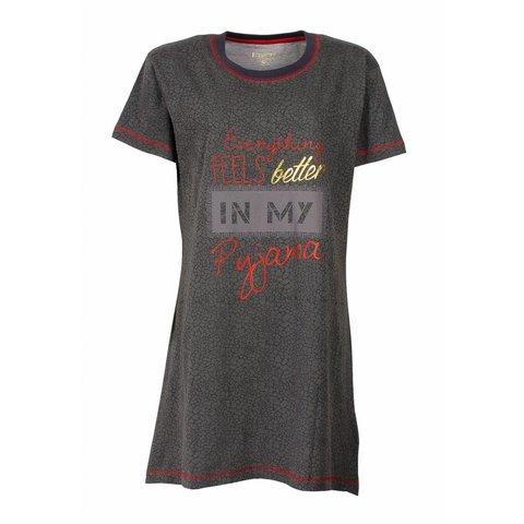 Irresistible Dames Nachthemd Grijs met Print IRNGD1602A
