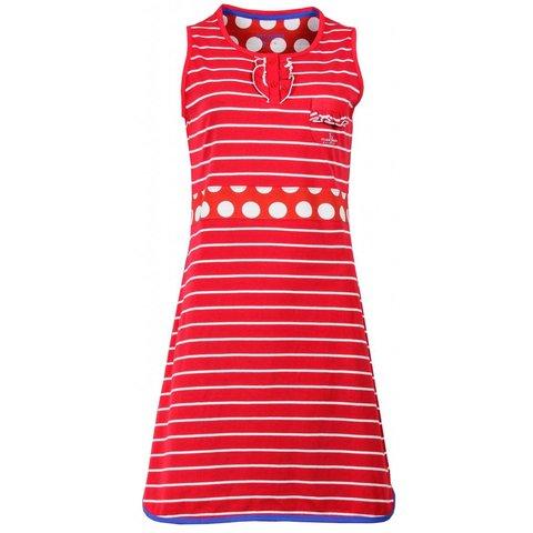 Irresistible Dames Nachthemd Rood Gestreept IRNGD1504B