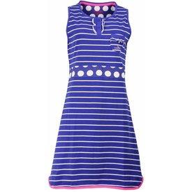 Irresistible Irresistible Dames Nachthemd Blauw Gestreept IRNGD1504A
