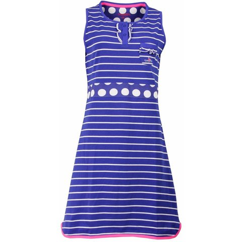 Irresistible Blauw/Wit  Dames Nachthemd IRNGD1504A