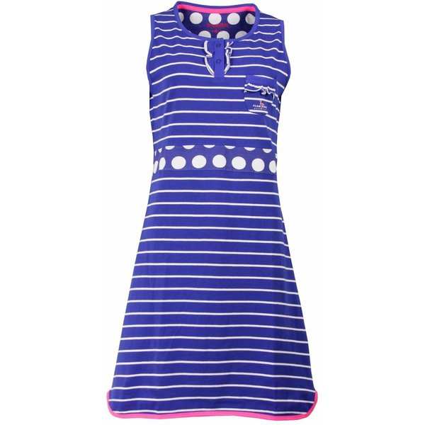 Irresistible Irresistible Blauw/Wit  Dames Nachthemd IRNGD1504A