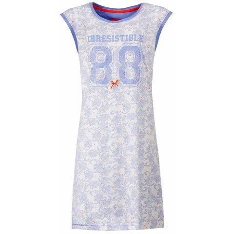 Irresistible Lichtblauw met Opdruk Print Dames Nachthemd IRNGD1502B
