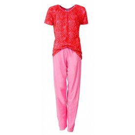 Irresistible Irresistible Dames Pyjama Rood Roze IRPYD1403A