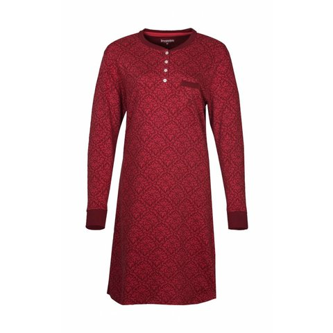 Irresistible Dames Nachthemd Rood met een All-over Dessin IRNGD2608B