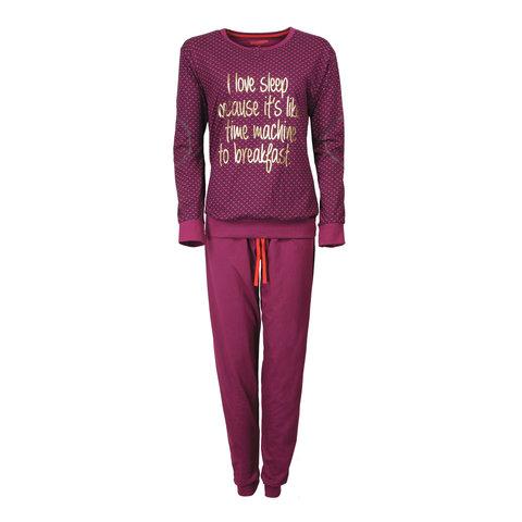 Irresistible Dames Pyjama Paars met Goudkleurige print IRPYD2604A