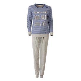 Irresistible Irresistible Dames Pyjama Blauw gestreept IRPYD2508B