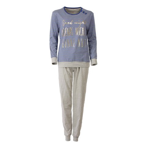 Irresistible Dames Pyjama Blauw gestreept IRPYD2508B