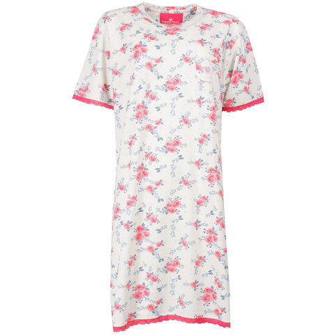 Tenderness Dames Nachthemd Roze met Bloemen print TENGD1504A