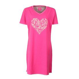 Tenderness Tenderness Dames Nachthemd Roze Hart Print TENGD1609A