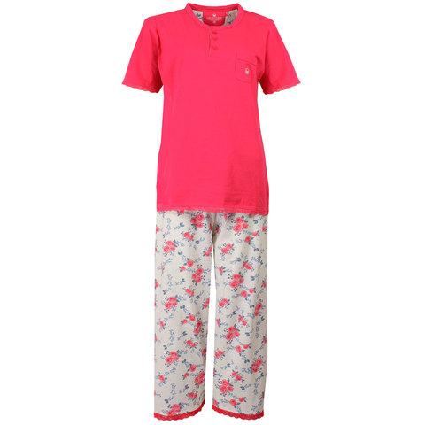 Tenderness Dames Pyjama Roze met driekwart broek TEPYD1504A