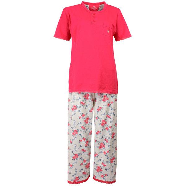 Tenderness Tenderness Dames Pyjama Roze met driekwart broek TEPYD1504A
