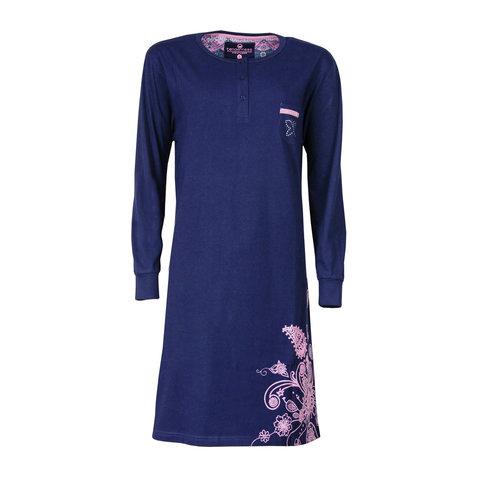 Tenderness Dames Nachthemd Blauw TENGD2603A