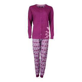 Tenderness Tenderness Dames Pyjama doorknoop ziekenhuis Paars TEPYD2603B