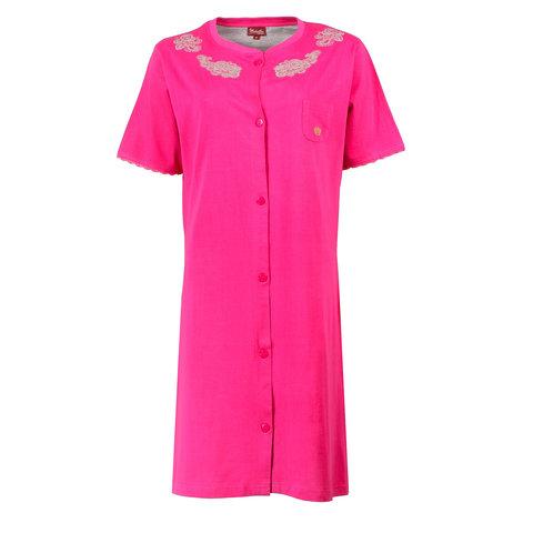 Medaillon Dames Nachthemd Roze Doorknoop model MENGD1606A