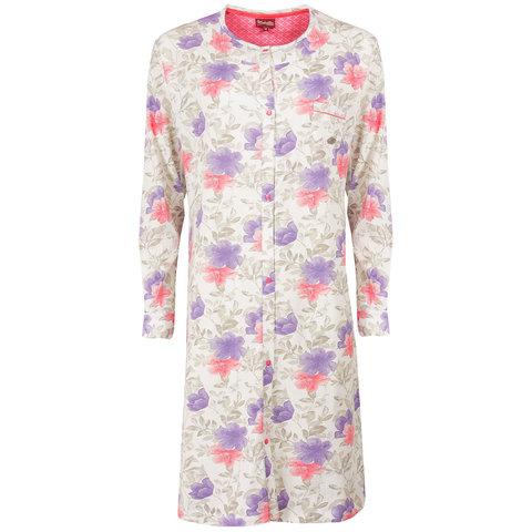 Medaillon Dames Nachthemd bloem Doorknoop model MENGD1503A