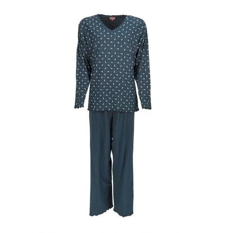 Medaillon Dames Pyjama Blauw MEPYD1103A