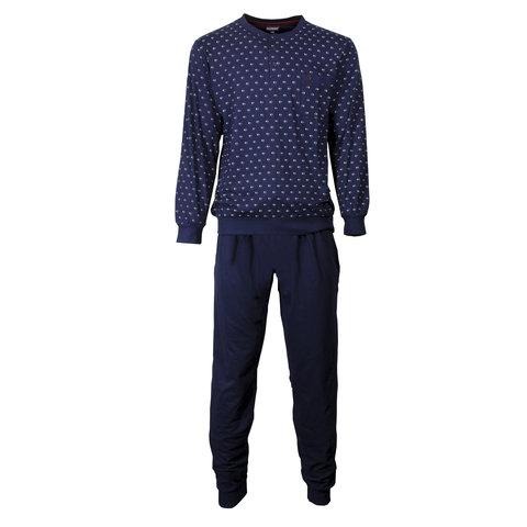 Paul Hopkins Heren Pyjama Dessin print Blauw- PHPYH2704A