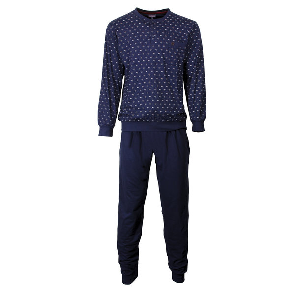 Paul Hopkins Paul Hopkins Heren Pyjama Dessin print Blauw- PHPYH2704A * Lange titel